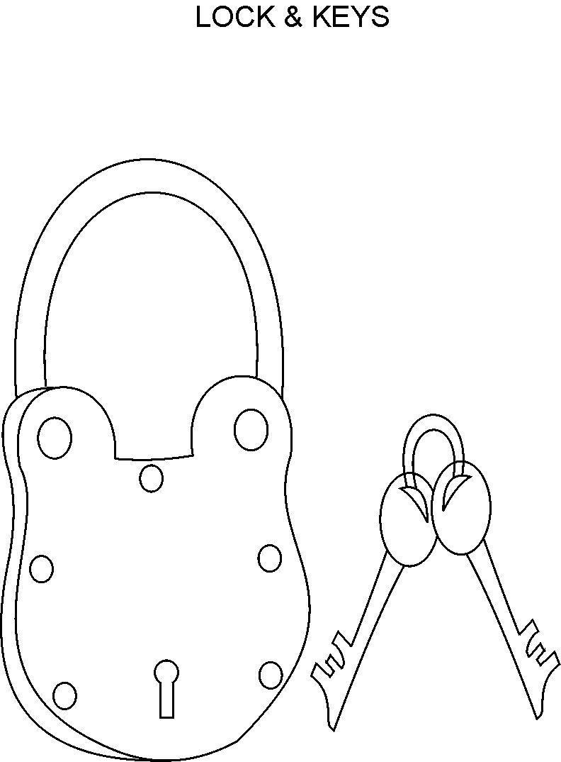 lock key coloring page lock key coloring page