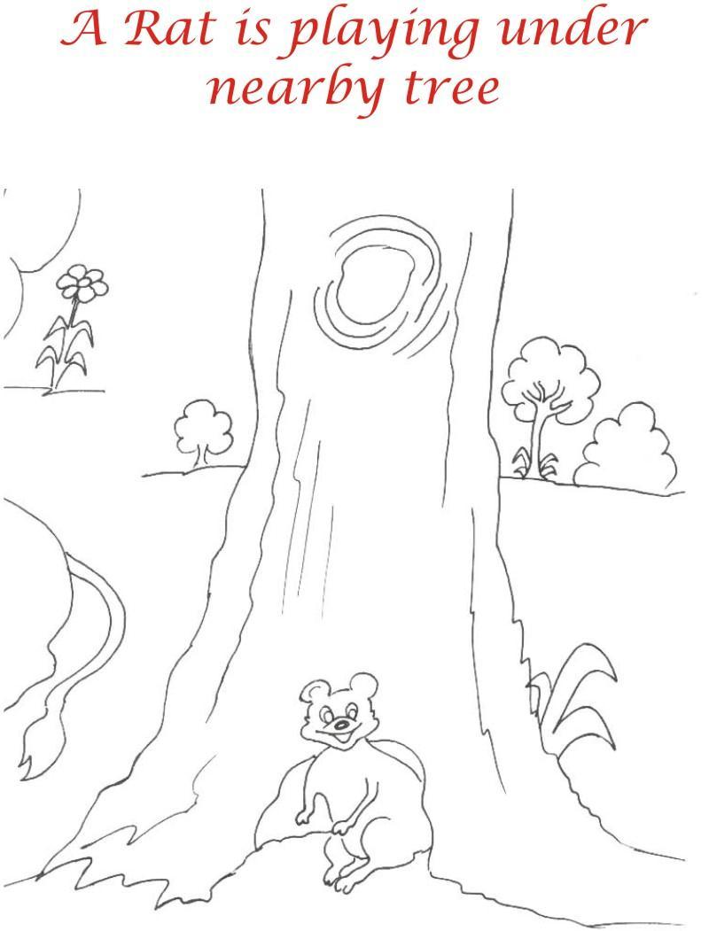 Rat in Jungle printable coloring