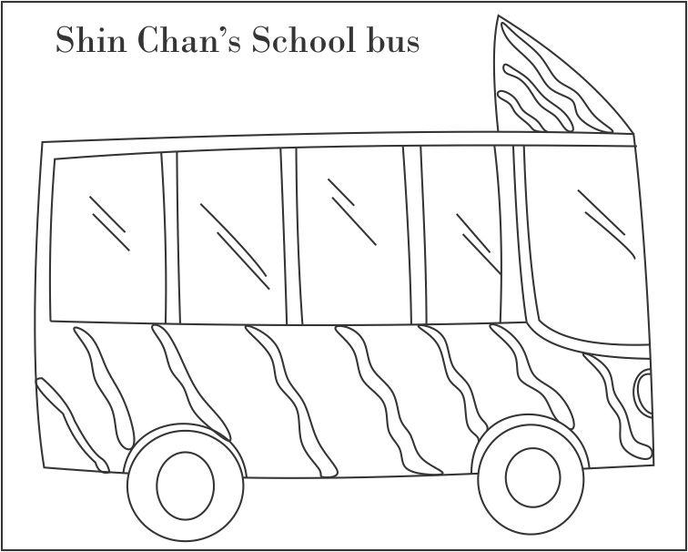 School bus coloring printable page for kids