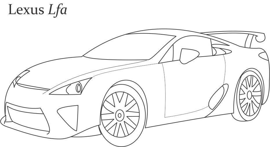 Super car Lexus lfa coloring