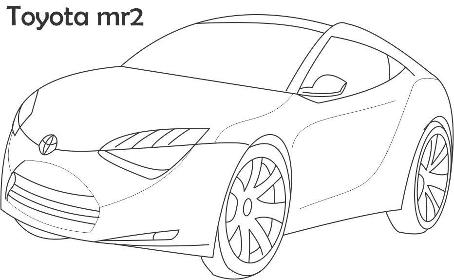 Super Car Toyota Mr2 Coloring Page For Kidsrhstudyvillage: Toyota Car Coloring Pages At Baymontmadison.com