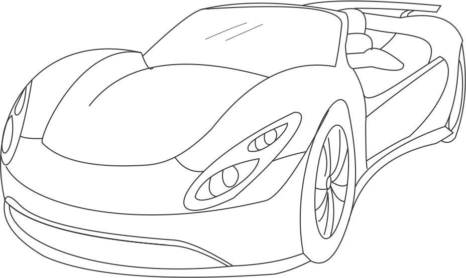 Super Car 2 Coloring Printable Page For Kids