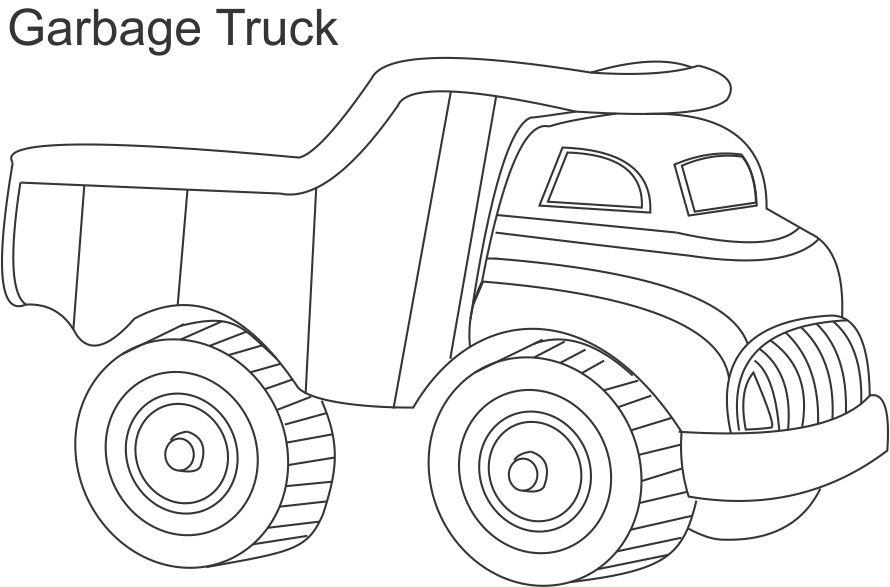 Big Garbage Truck Coloring Page - Free Printable Coloring Pages for Kids | 587x890