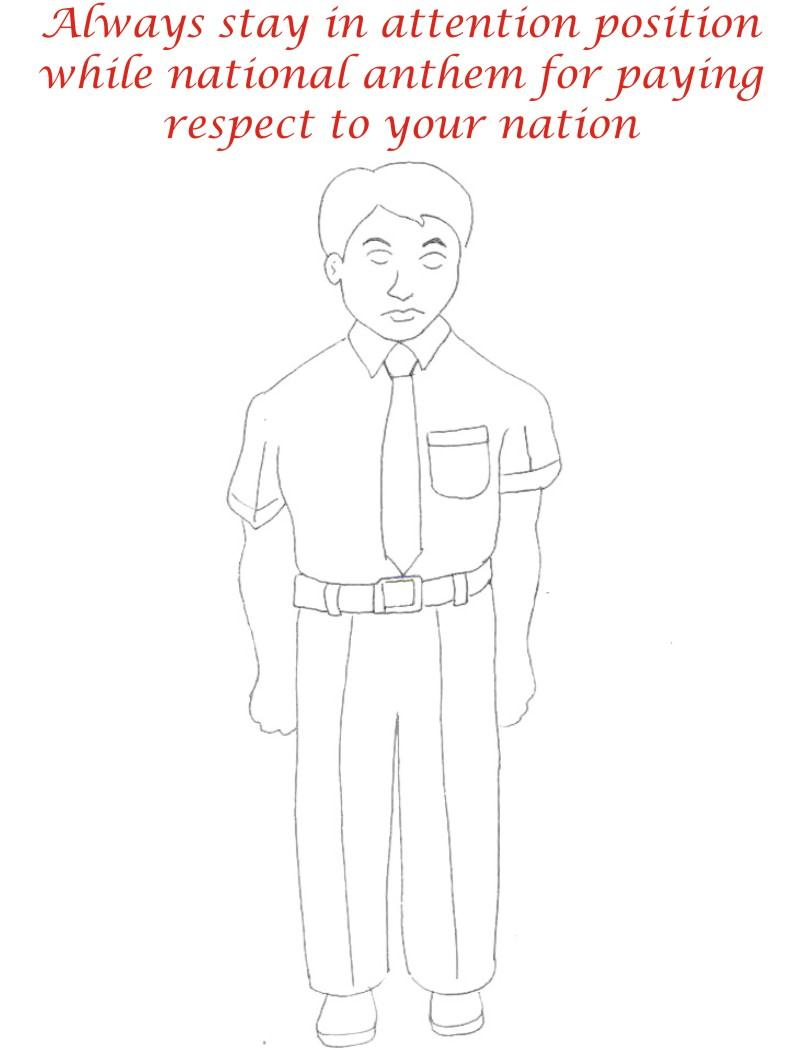 National Anthem coloring printable page for kids