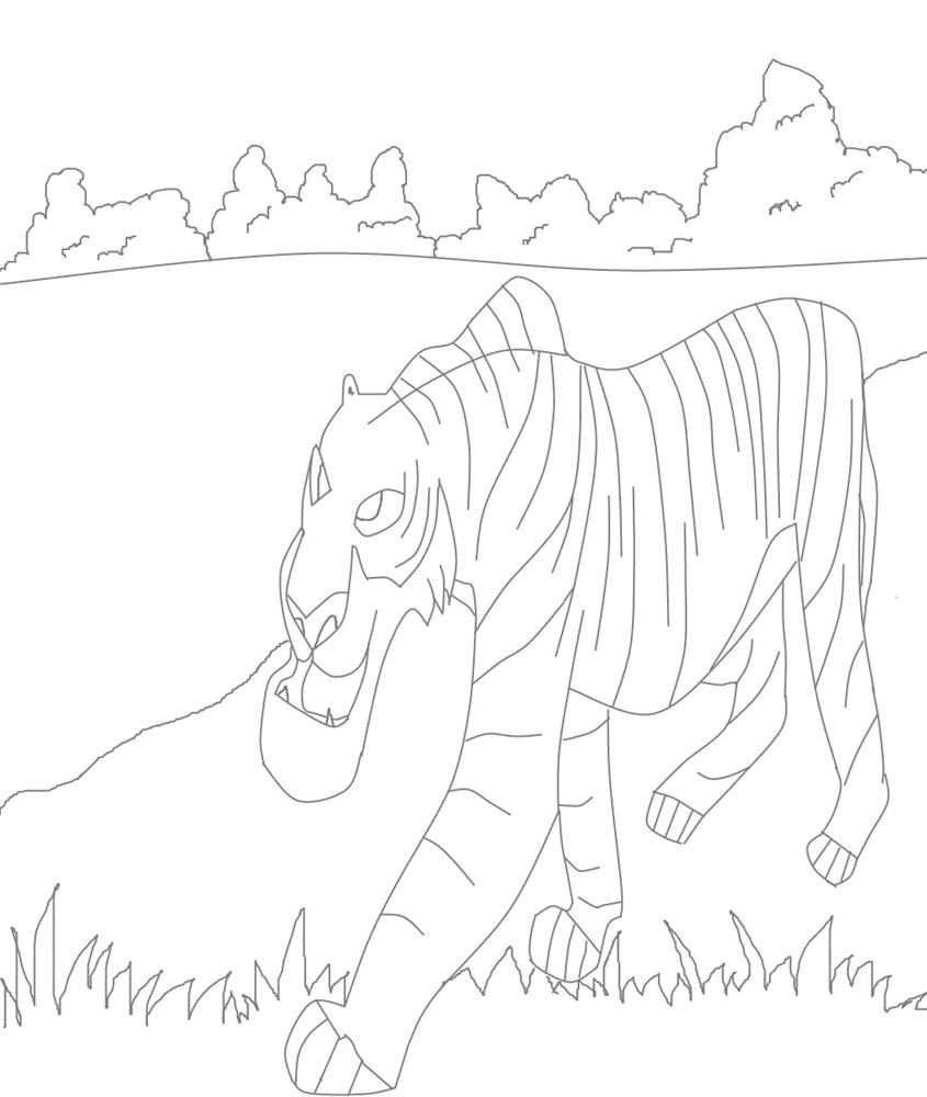 Sher Khan coloring printable page for kids