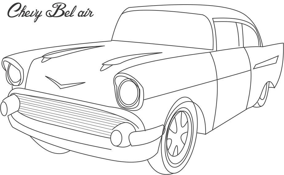 Chevy Bel air coloring printable