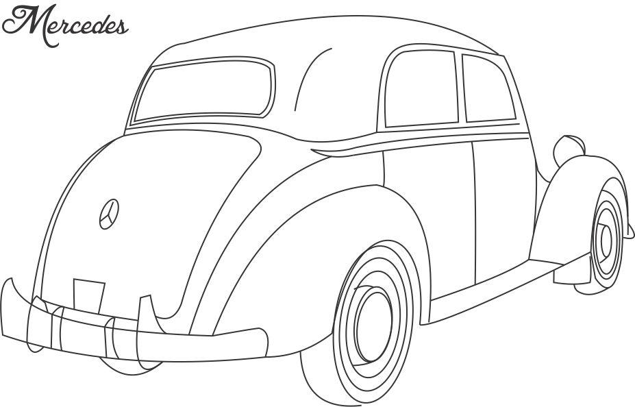 Mercedes 170 S Car Coloring Page For Kids