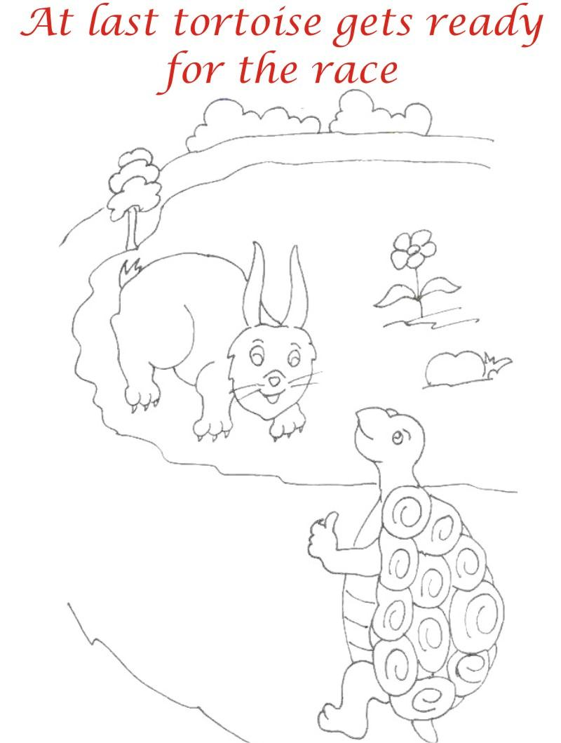 The Racing story coloring page for kids 7