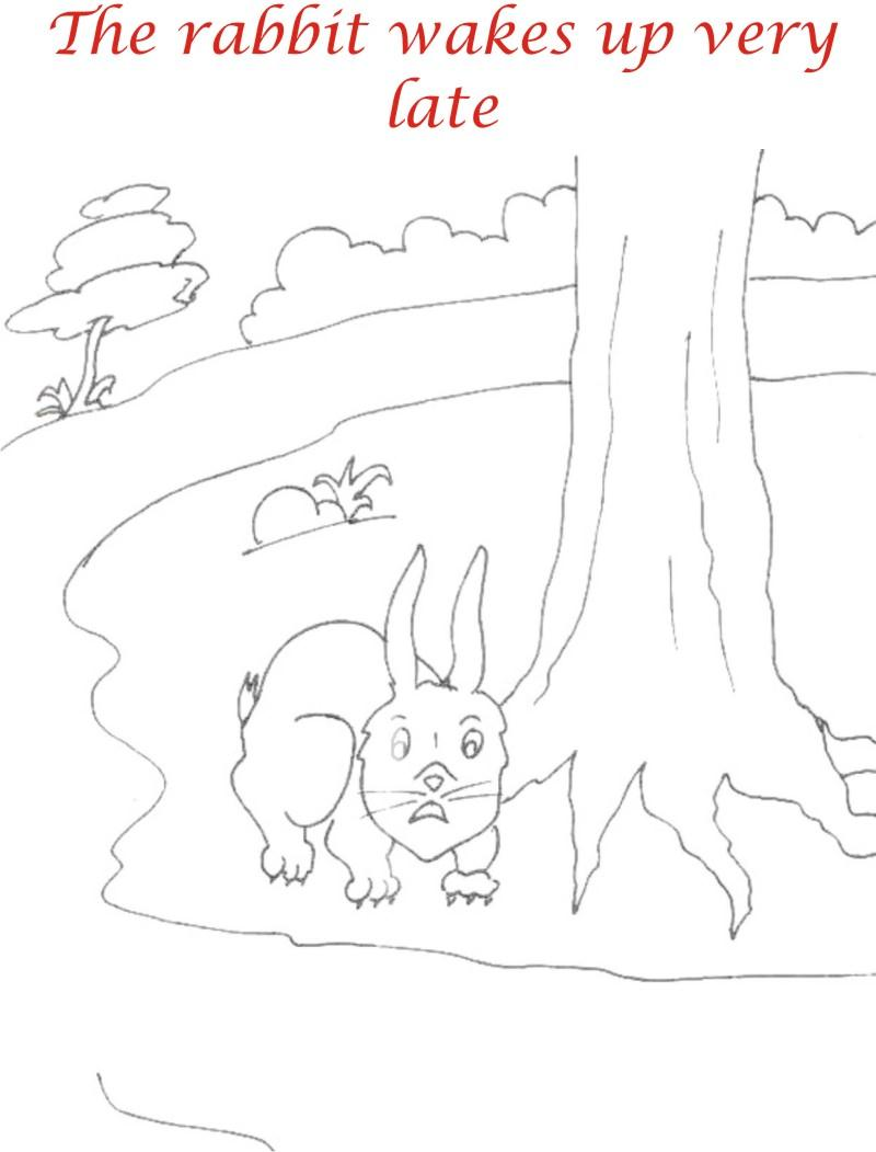 The Racing story coloring page for kids 18