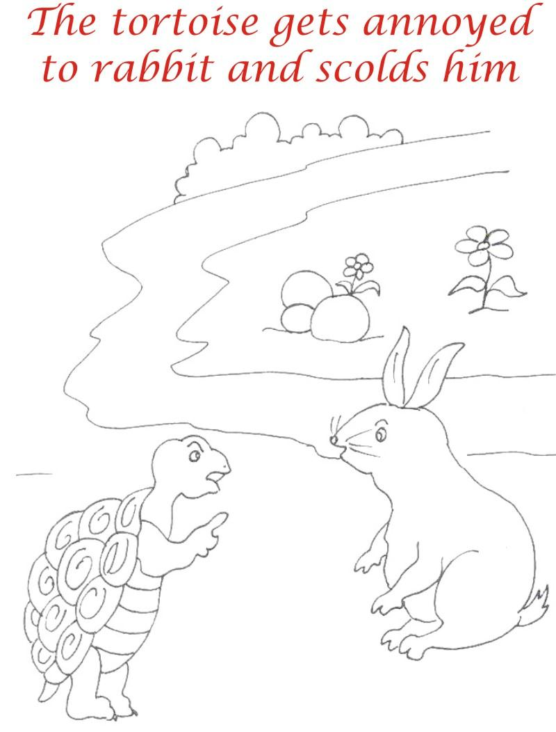 The Racing story coloring page for kids4