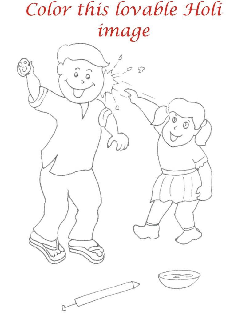 Holi coloring printable pages for kids 14
