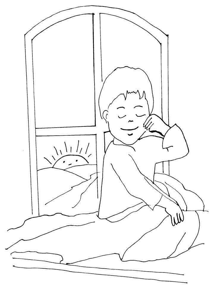 Story coloring printable page for