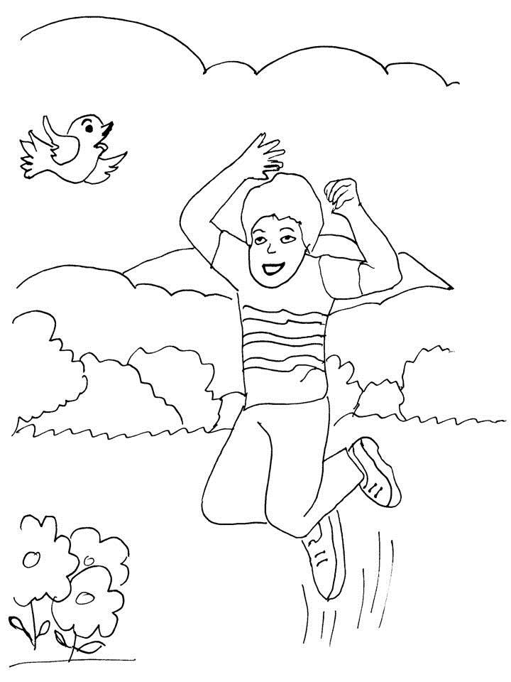 Story coloring printable page for kids 3