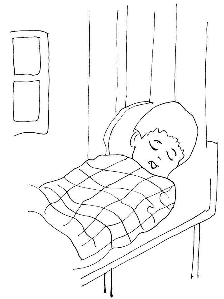 big bed pics coloring pages - photo#43