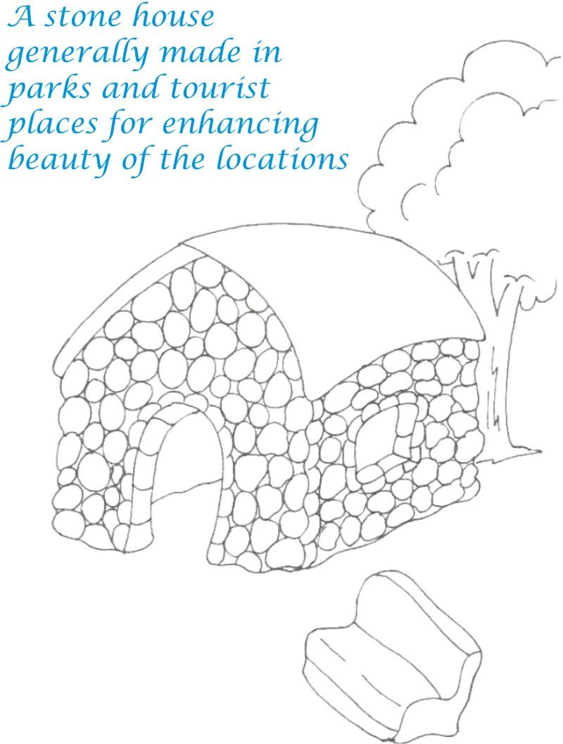Sweet home coloring printable page for kids 13