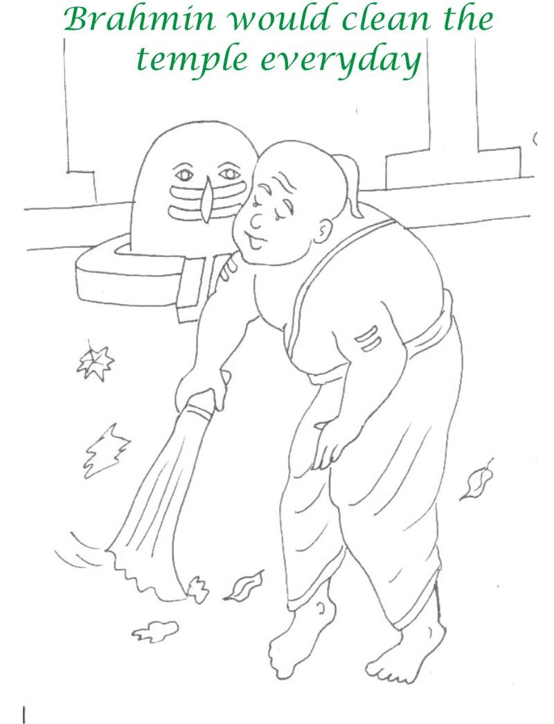 True devotee Story coloring page for kids 3