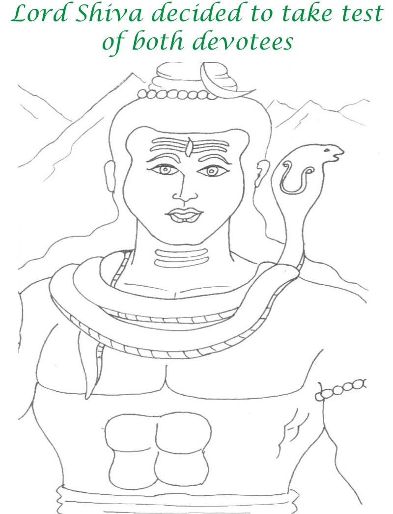 True devotee Story coloring page for kids 18