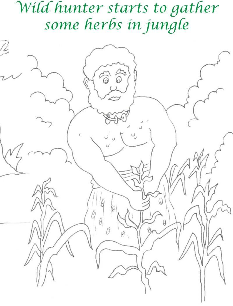 True devotee Story coloring page for kids 28