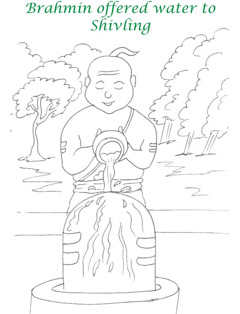 True devotee Story coloring page for kids 12