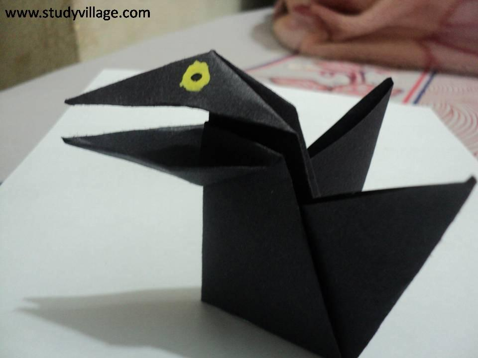 How to make Paper Talking Crow - Step 14