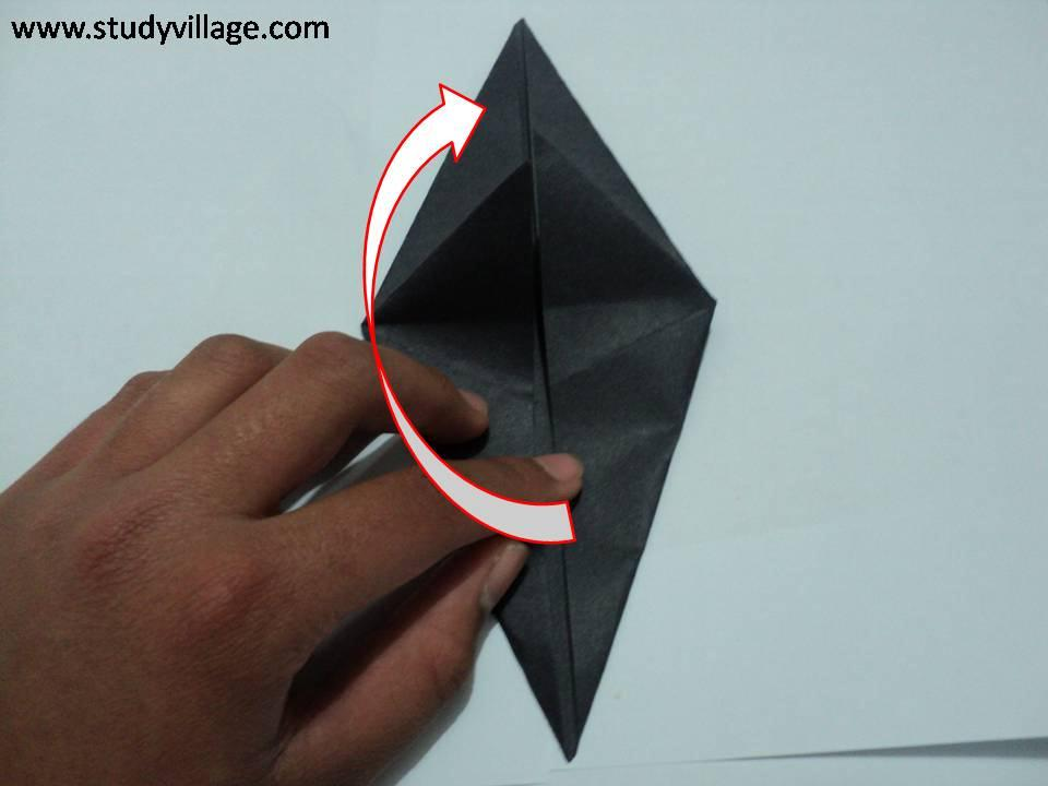 How to make Paper Talking Crow - Step 6