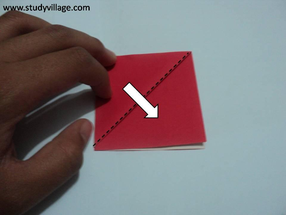 How to make an Knife Paper Boat - Step 4