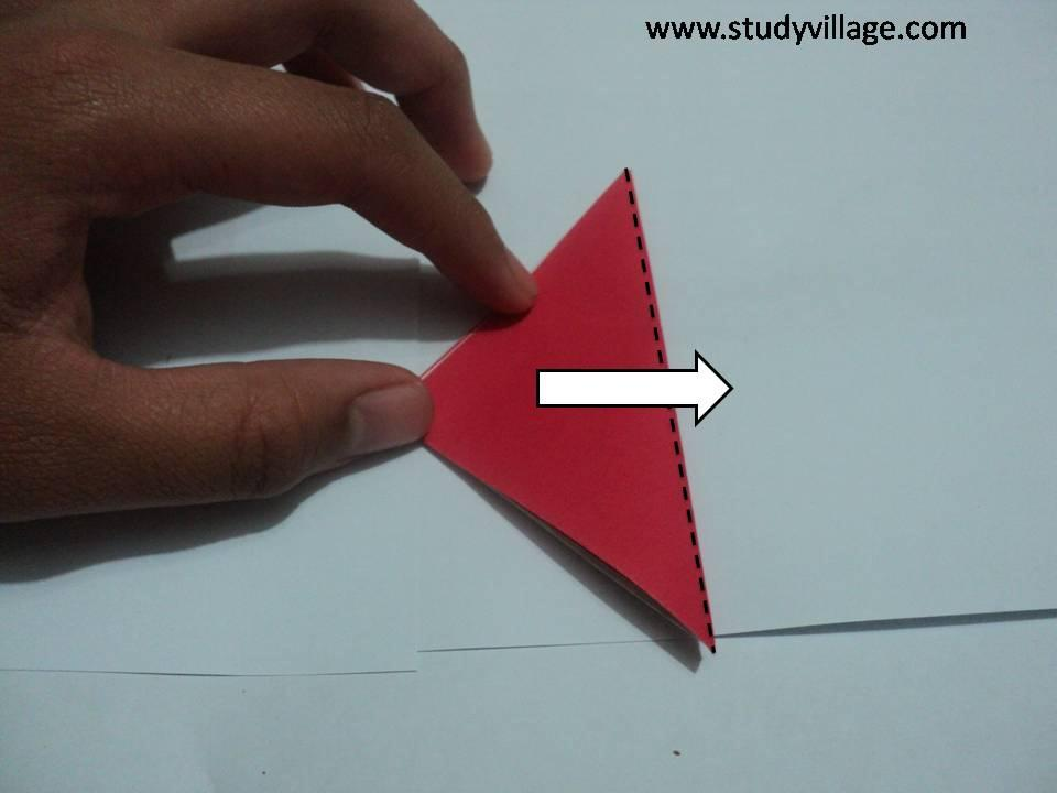 How to make an Knife Paper Boat - Step 8