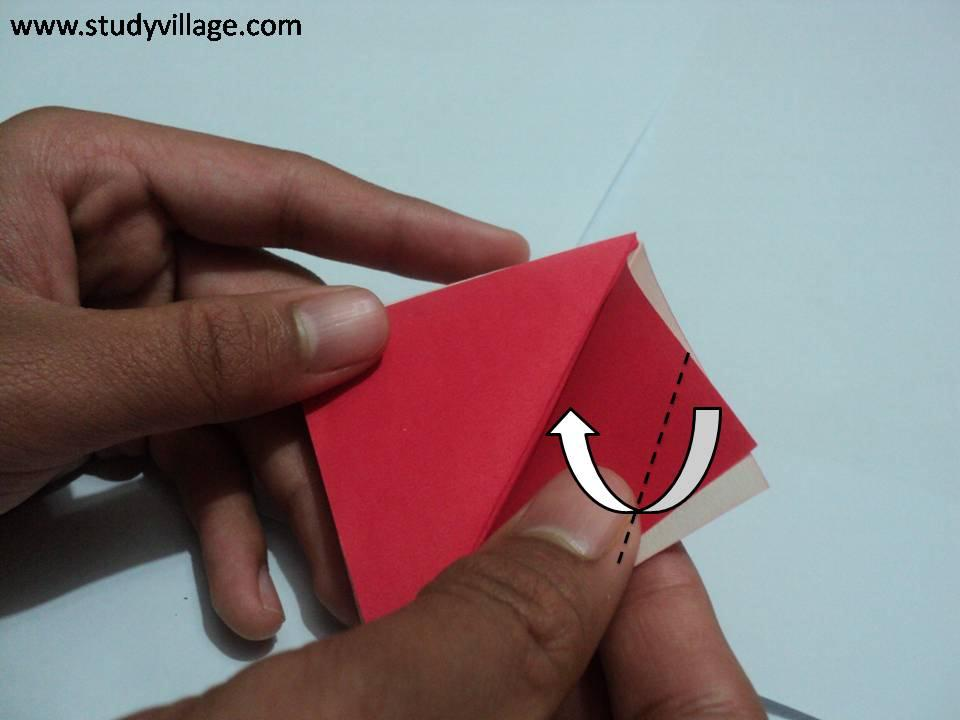 How to make an Knife Paper Boat - Step 9