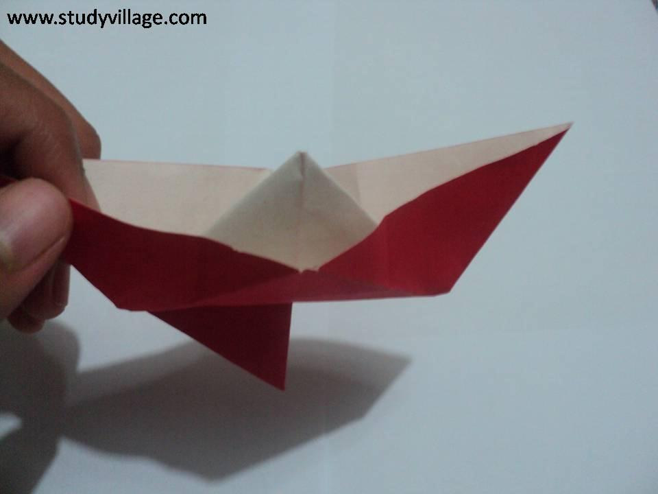 How to make an Knife Paper Boat - Step 20