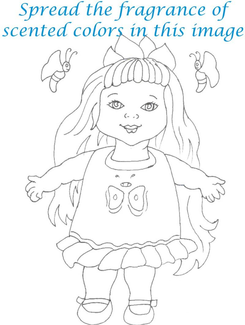 Dolls coloring printable page for kids 14