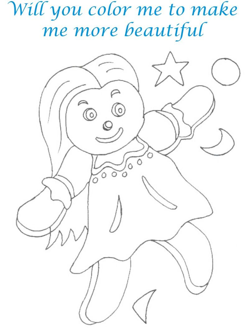 Dolls coloring printable page for kids 15