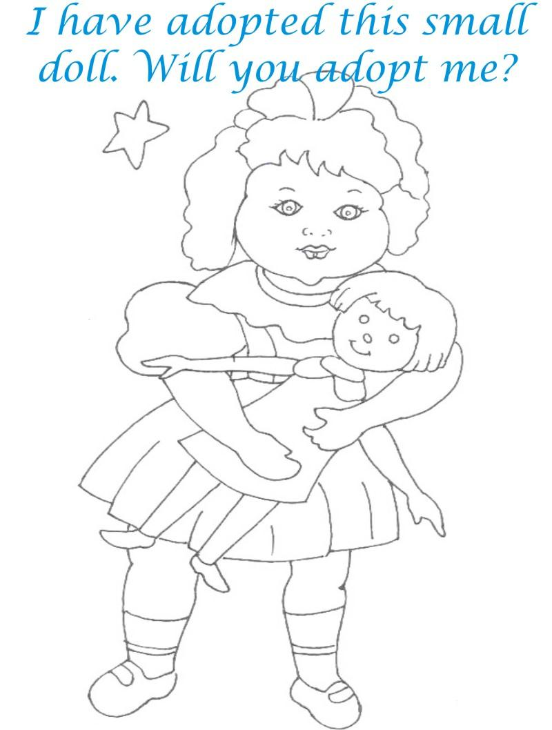 Dolls coloring printable page for kids 18