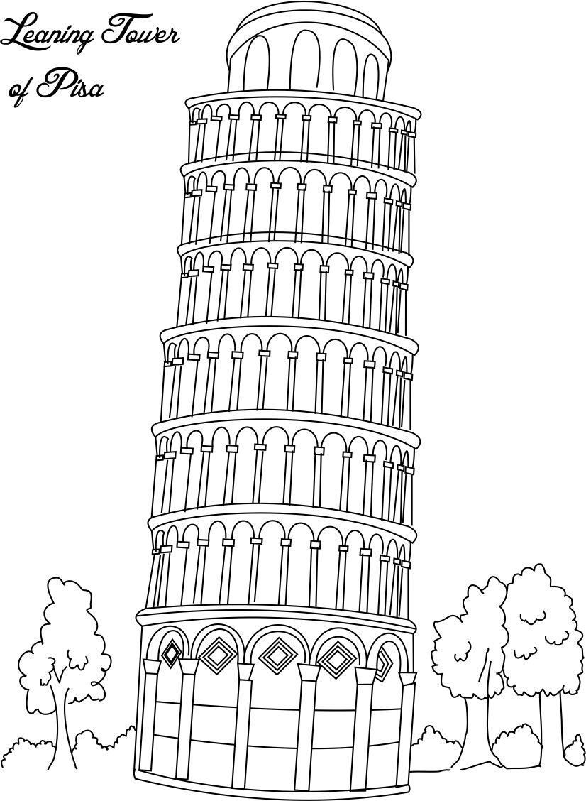 Tower of London Colouring Page 2 | 1128x826