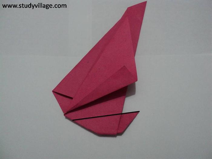 How to make a Sail-A-Yatch Paper Boat - Step 7