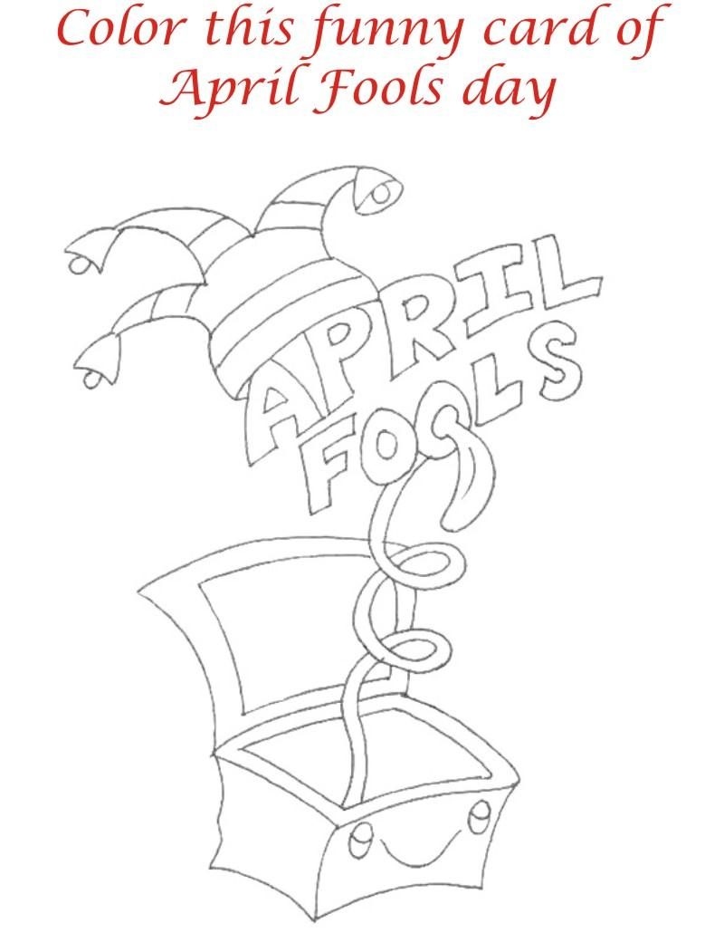 April fool coloring page for kids 12