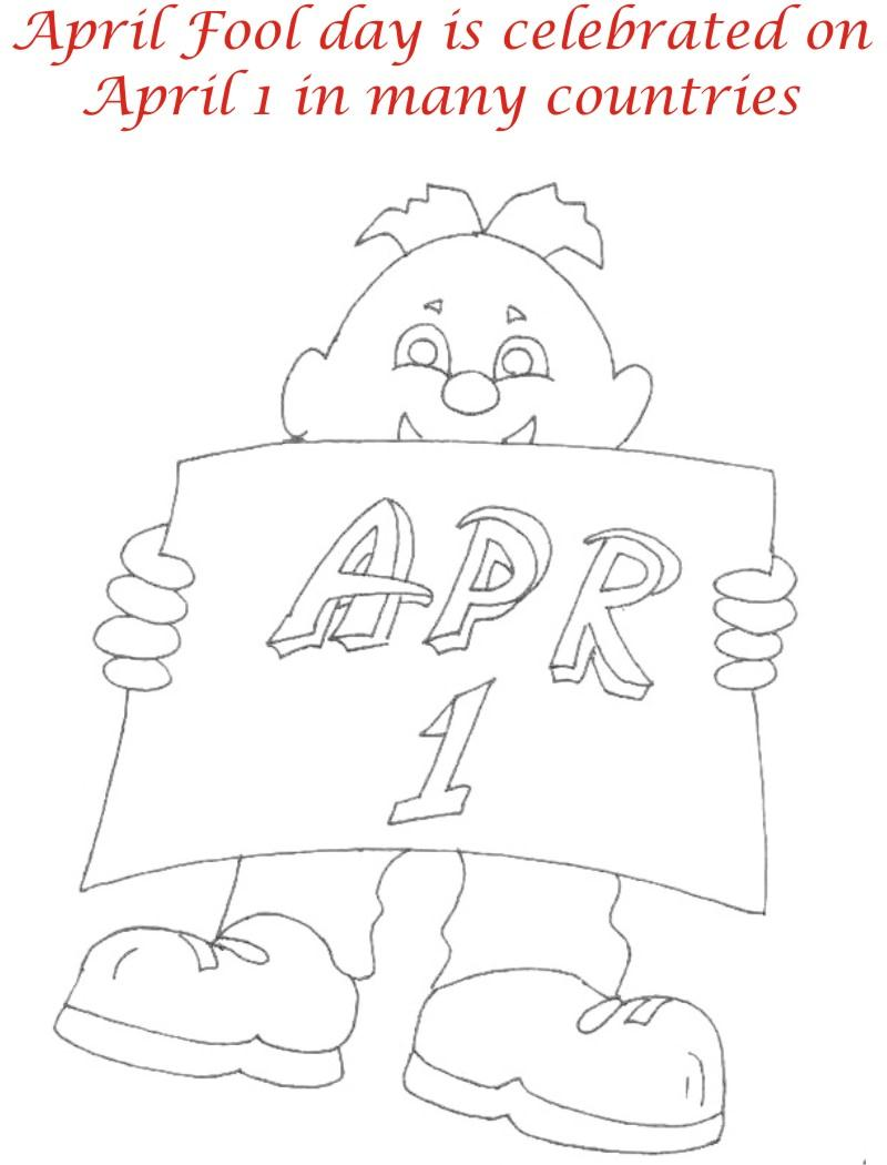 April fool coloring page for kids 3