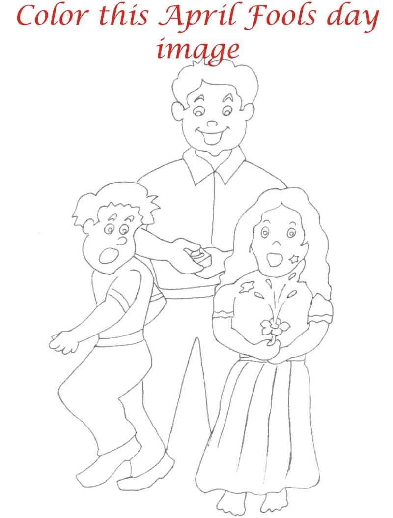 April fool coloring page for kids 7
