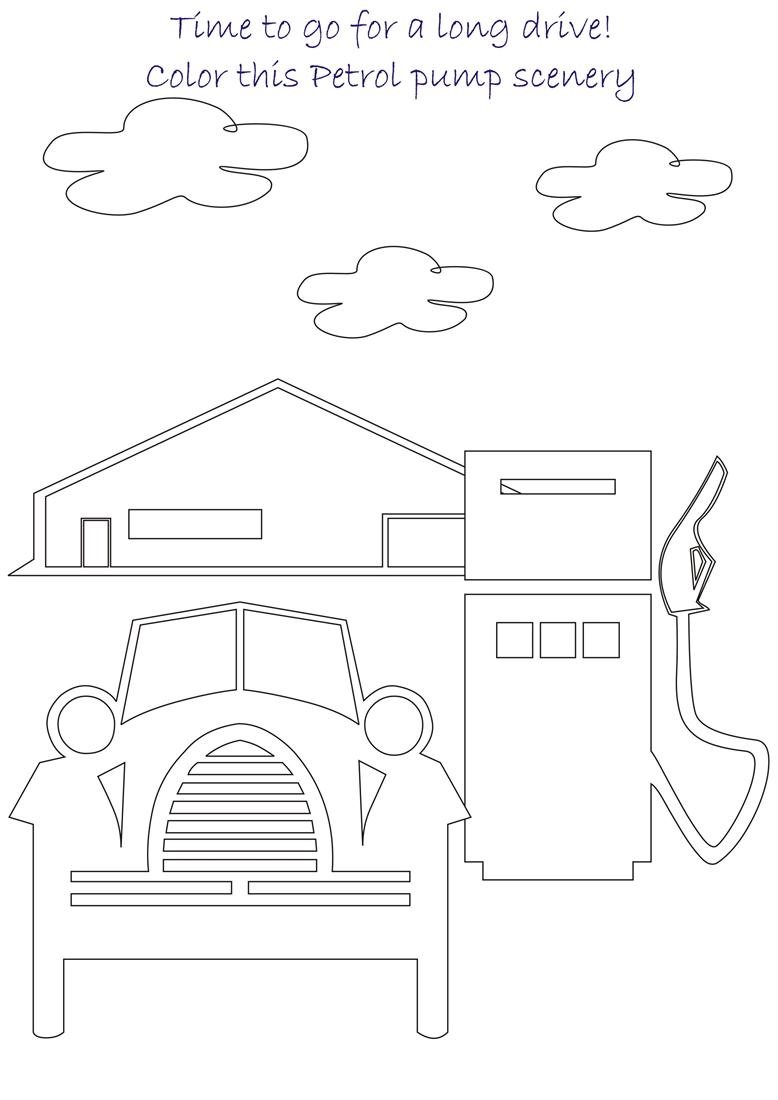 Beautiful scenery coloring page for kids 8