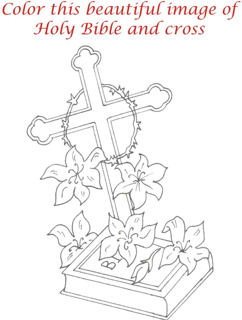 Good Friday coloring printable page for kids 5