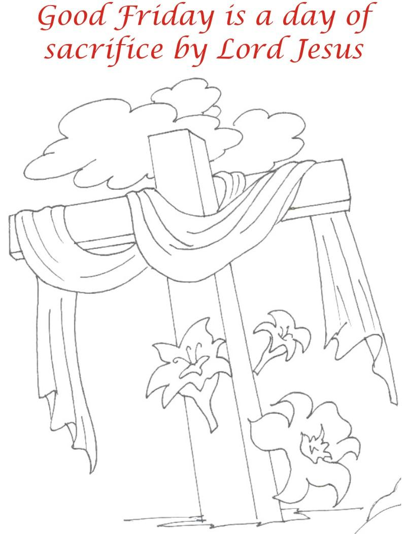 Good Friday coloring printable page for kids 6