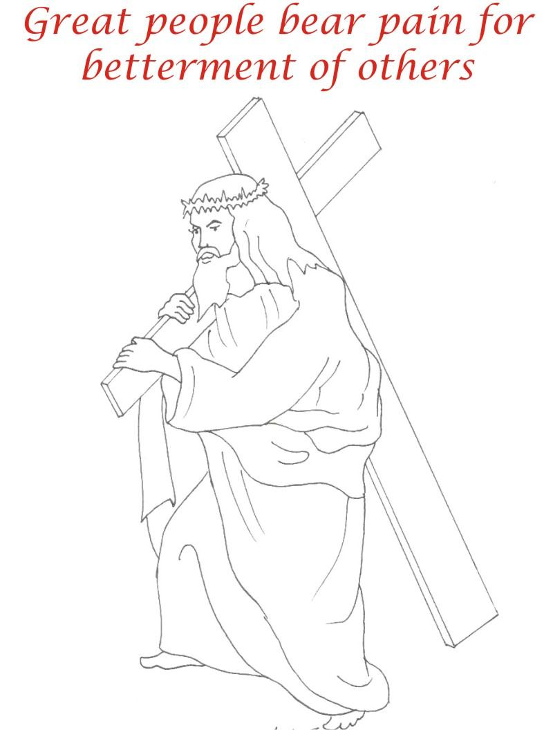 Good Friday coloring printable page for kids 7
