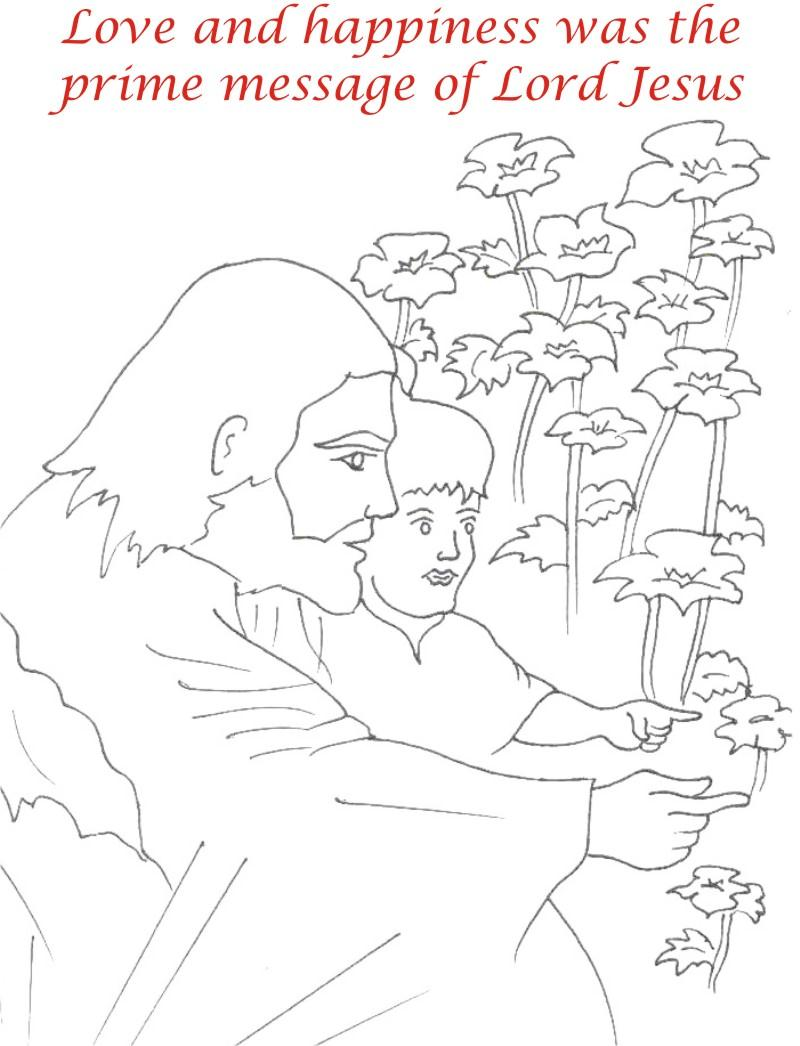 Good Friday coloring printable page for kids 11