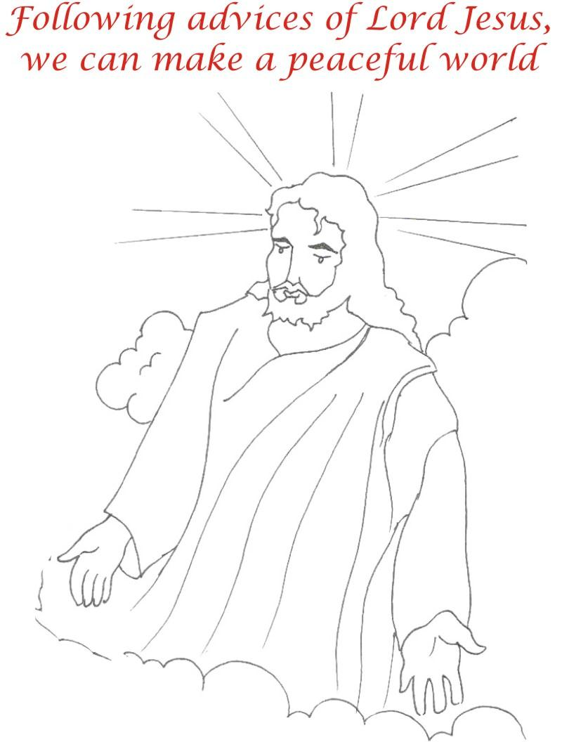 Good Friday coloring printable page for kids 13