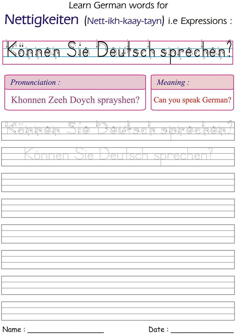 can you speak german worksheet for practice. Black Bedroom Furniture Sets. Home Design Ideas