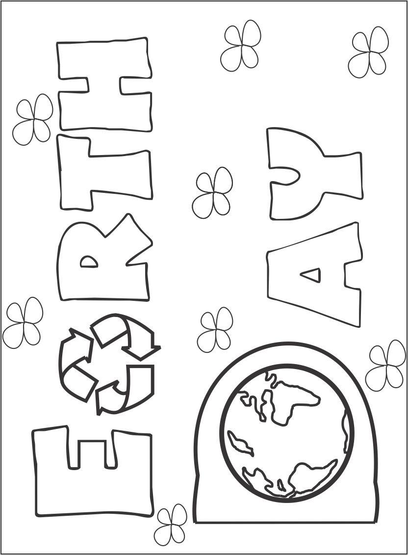 Earth day printable coloring page for kids 1