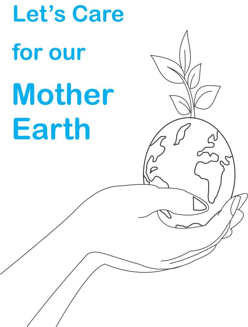 Earth day printable coloring page for kids 2