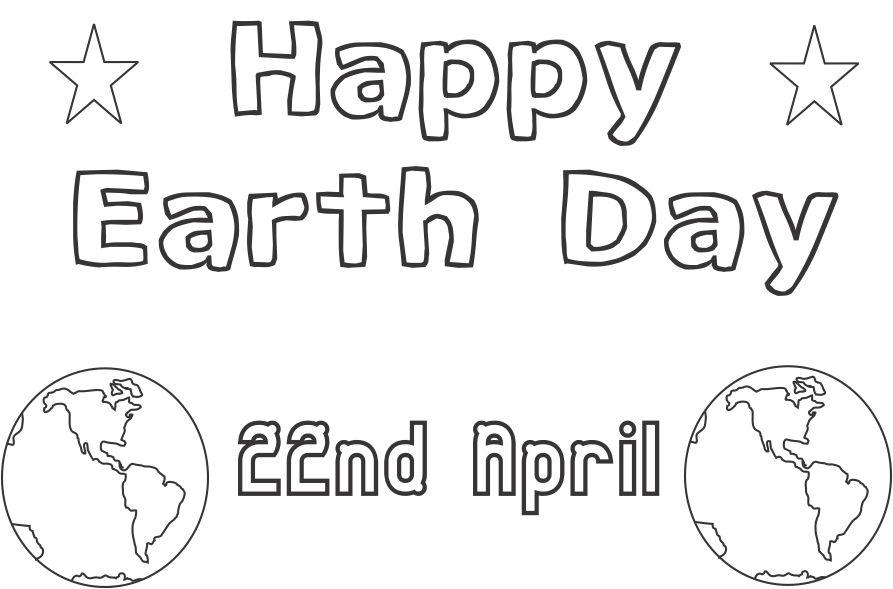 Earth day printable coloring page for kids 10