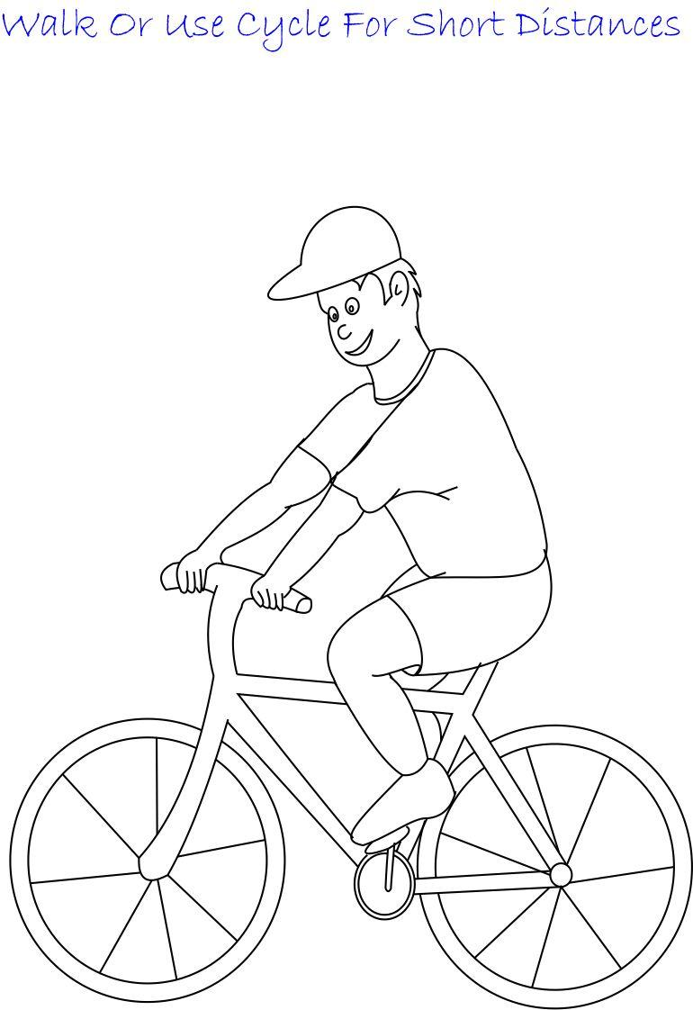 Use cycle printable coloring page for kids