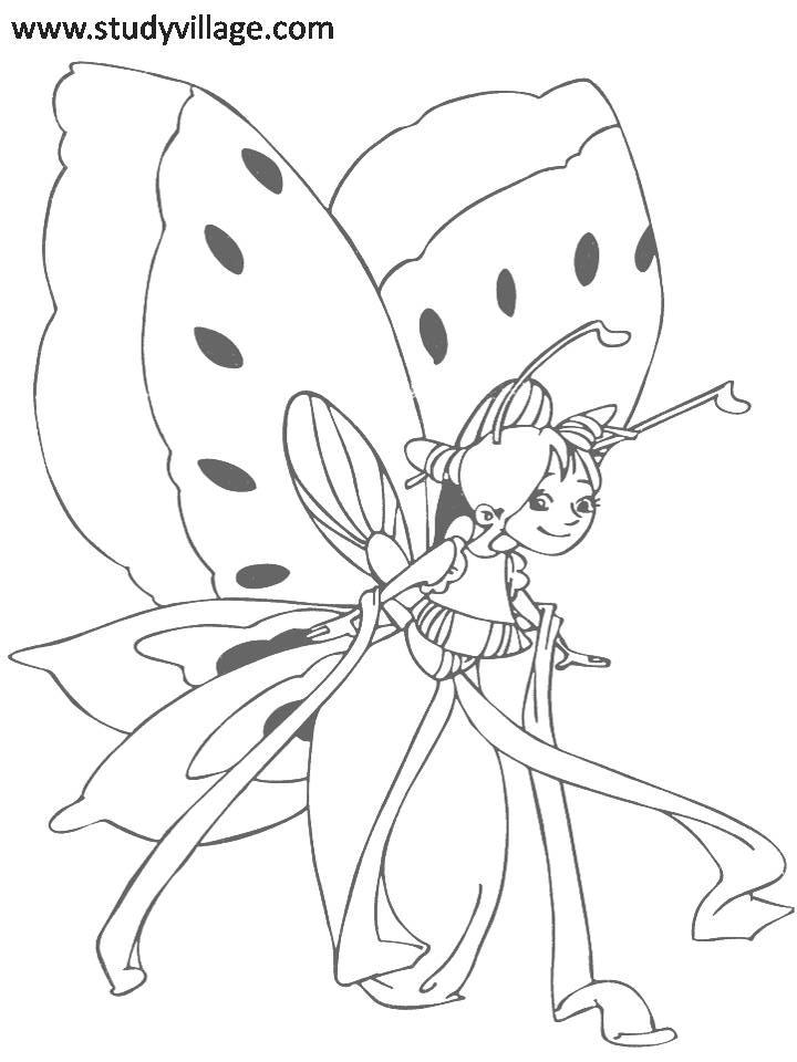 funny fly insects coloring pages - photo#6