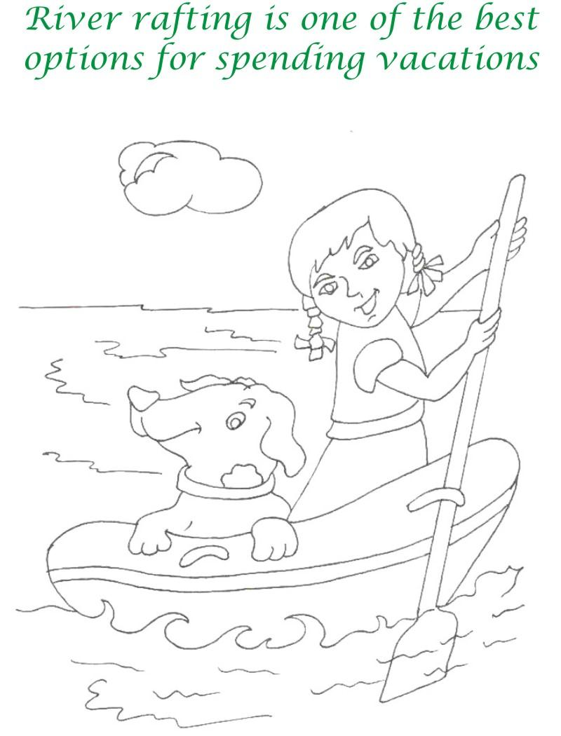 Vacations days printable coloring page for kids 5